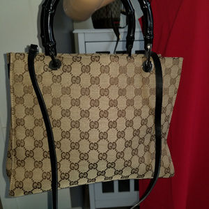 Gucci Bamboo Rare Satchel with detachable strap